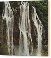 Big Water Fall Croatia Wood Print