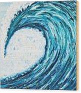 Big Wave Of Nazare Wood Print