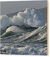 Big Waves At Clogher Beach Wood Print