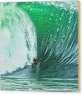 Big Wednesday At The Wedge Wood Print
