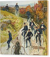 Big Wheel Bicycles Wood Print