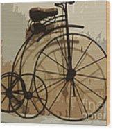 Big Wheel Trike Wood Print