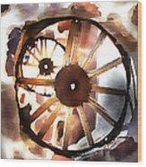 Big Wheel Wall Wood Print