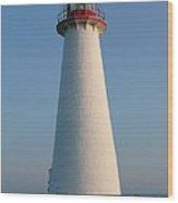 Big White Lighthouse Wood Print