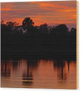 Big Cypress Sunset Wood Print