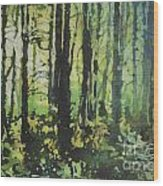 Bigfoot Sighting Wood Print