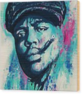 Biggie Smalls Modern Art Drawing Poster Wood Print