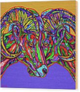 Bighorn Sheep Wood Print