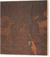 Bighorn Sheep Petroglyph Zion National Park Wood Print