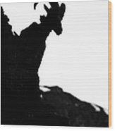 Bighorn Sheep Silhouette Wood Print