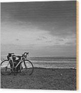 Bike Break Wood Print