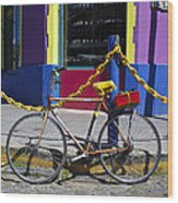 Bike La Boca Wood Print