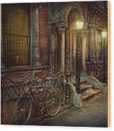 Bike - Ny - Greenwich Village - In The Village  Wood Print by Mike Savad