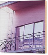 Bike On My Balcony Wood Print by Artist and Photographer Laura Wrede