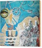 Bike Owl Wood Print by Amy Sorrell