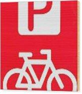 Bike Parking Wood Print