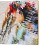 Bike Race I Wood Print
