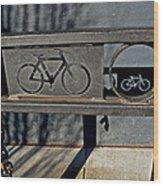 Bike Rack Wood Print