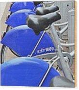 Bike Rental In Marseille Wood Print