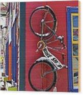 Bike Shop Wood Print