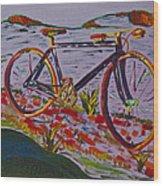 Bike Study Wood Print
