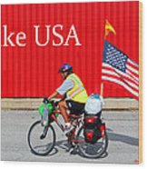 Bike Usa Wood Print
