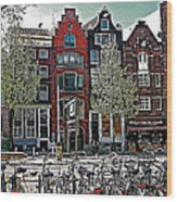 Bikes Everywhere In Amsterdam-netherlands Wood Print