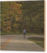 Biking In The Smoky Mountains Wood Print