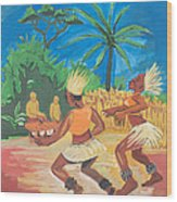 Bikutsi Dance 2 From Cameroon Wood Print