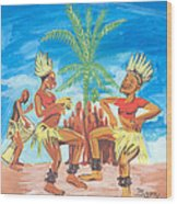 Bikutsi Dance 3 From Cameroon Wood Print