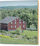 Bilgerville Road Farm  7d02271 Wood Print