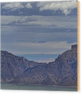 Bill Cody Reservoir From Sheep Mountain  Panoramic  Signed  25.75x78 Wood Print