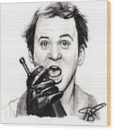 Bill Murray Wood Print