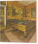 Billiard Room At Menil-hubert Wood Print
