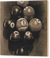 Billiards Art - Your Break - Bw Opal Wood Print