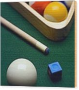 Billiards Wood Print
