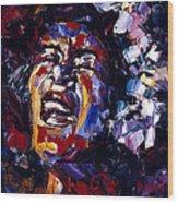 Billie Holiday Jazz Faces Series Wood Print