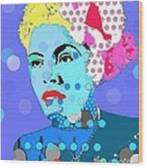 Billie Holiday Wood Print by Ricky Sencion