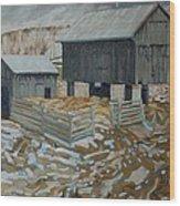 Bill's Barns Wood Print
