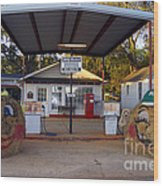 Billy Carters Old Service Station In Plains Georgia Wood Print