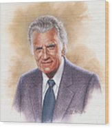 Billy Graham Evangelist Wood Print