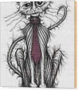 Billy The Cat Wood Print