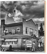 Billy's Restaurant And Walt's Diner - Old Forge New York Wood Print