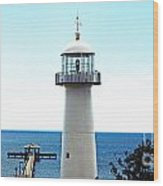 Biloxi Lighthouse 4 Wood Print