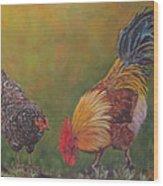 Biltmore Chickens  Wood Print