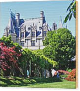 Biltmore House And Gardens Wood Print