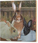 Bindy Bella And Butterscotch Wood Print