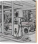 Bings Burger Station Cottonwood Arizona Wood Print