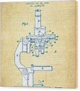 Binocular Microscope Patent Drawing From 1931 - Vintage Paper Wood Print