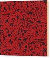 Biomorphic Shadows Wood Print